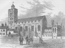 CITY OF LONDON. The church of St.Michael ad Bladum (aka le-Querne) c1880 print